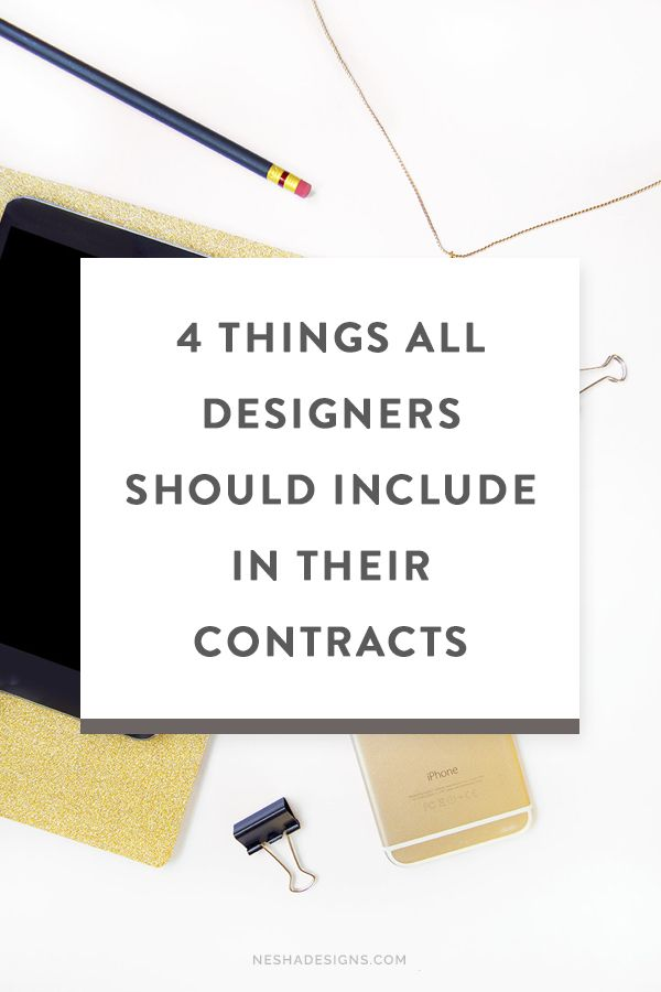 As all freelance designers and creative entrepreneurs know, contracts are a  necessity when working with clients, no matter how big or small the project  is.   Why?     1. Contracts provide you and the client with a description of       responsibilities. It helps you both understand who is responsible for       what.     2. Contracts secure payment.     3. Contracts protect you if you encounter problems with your clients.  Most designers do have a contract in place, but it's usually either…