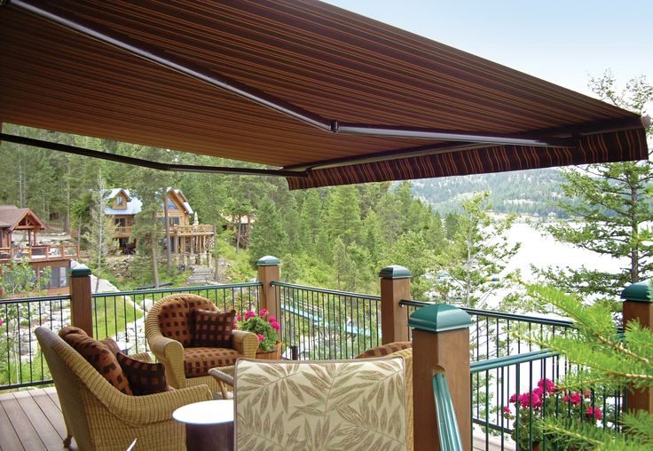 nu image retractable roof mount awning outside patio pinterest