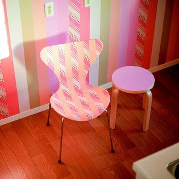 des murs assortis aux meubles avec le masking tape masking tape pinterest tapas mur et. Black Bedroom Furniture Sets. Home Design Ideas