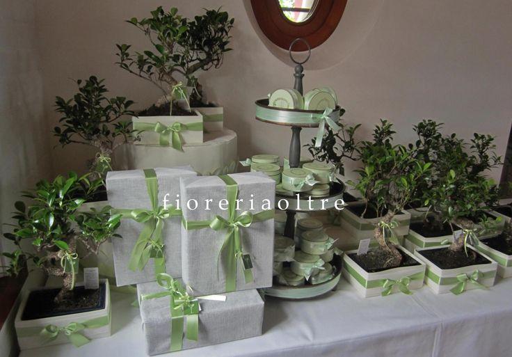 Fioreria Oltre/ Wedding bonbonnieres/ Bonsai  https://it.pinterest.com/fioreriaoltre/fioreria-oltre-bonbonnieres/