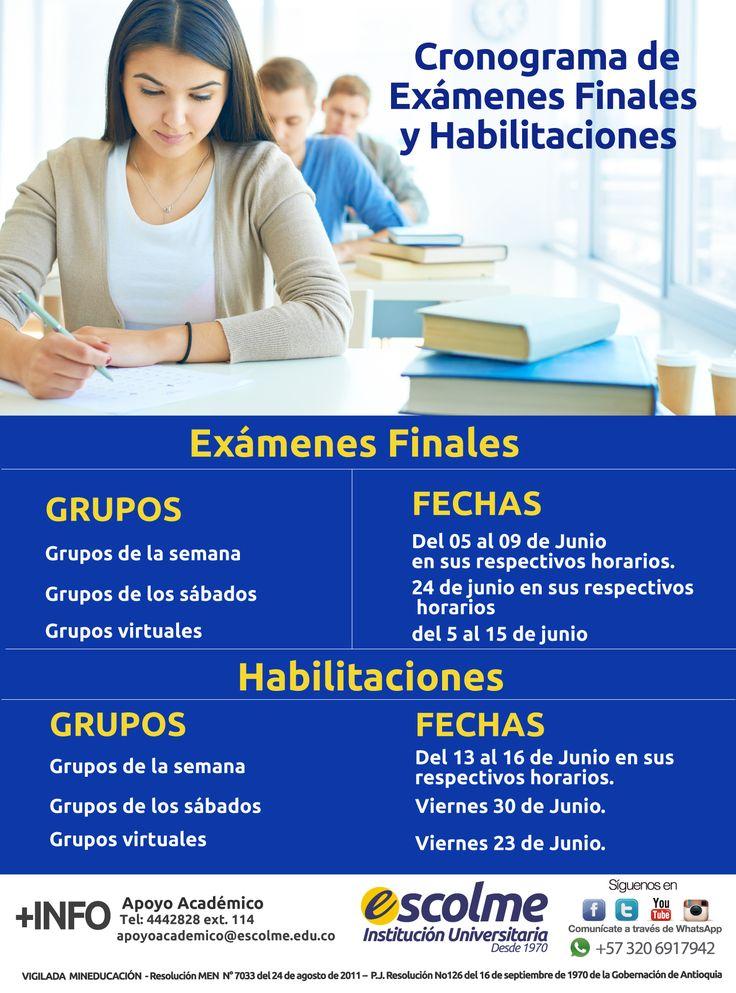 @Escolmeeduco ¡Prepárate para los exámenes finales y habilitaciones!