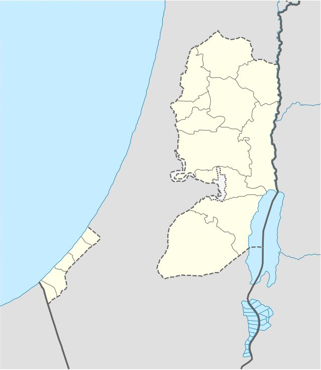 West Bank and Gaza Strip location map - State of Palestine - Wikipedia