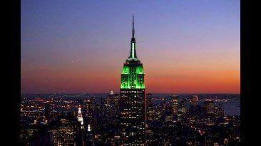 Edificio Empire State de Nueva York. Celebró el fin de mes de Ramadan. July 18, 2015.