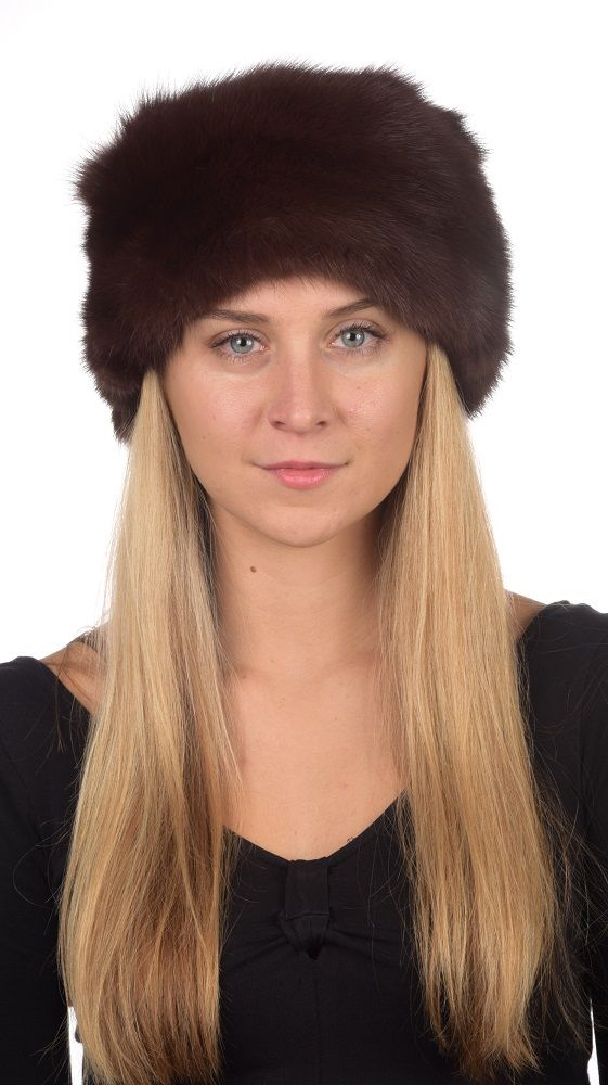 This classic sable fur hat fits both women and men, it is extremely warm, soft and very high quality. Absolutely natural dark brown color.  www.amifur.com