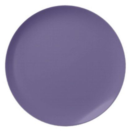 Ultra Violet Pantone 2018 color of the year purple Dinner Plate - kitchen gifts diy ideas decor special unique individual customized