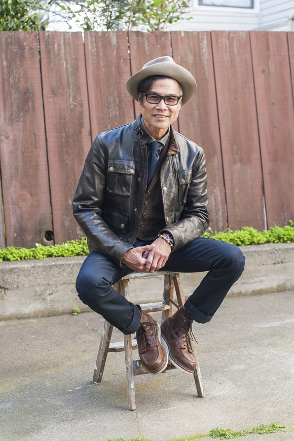 British Workwear Chic; Perfect for fall; @TSBmen Original URL: http://tsbmen.com/42606/japanese-american-outdoorsman-feat-galen-nishioka/