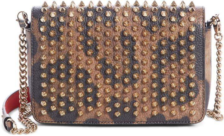 d8514794562 Christian Louboutin Zoompouch Leopard Print Leather Clutch ...