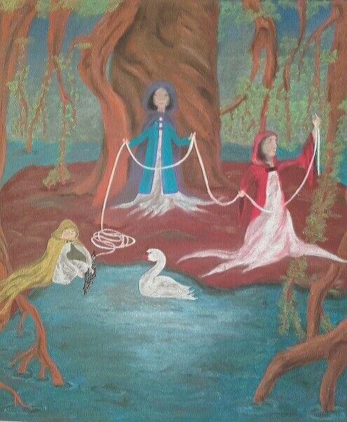 4th grade  chalkboard drawing; norse mythology, Waldorf School Warsaw
