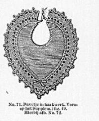 Slabbetje. Original crochet pattern in Dutch, 19th century