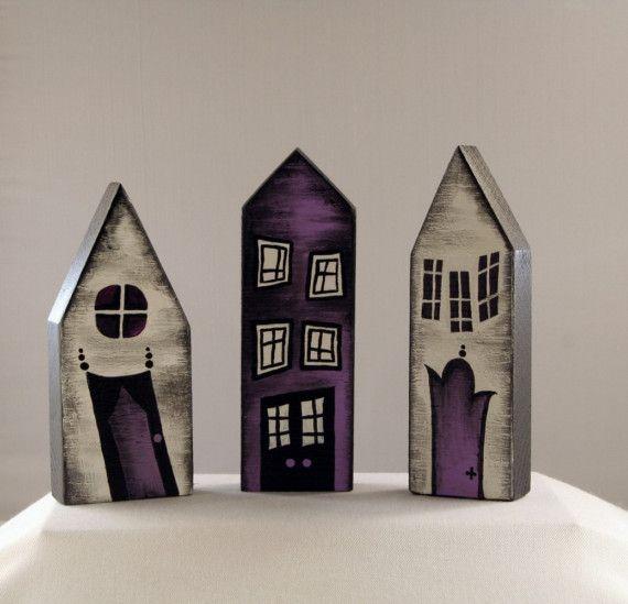 Little Wooden Houses Set