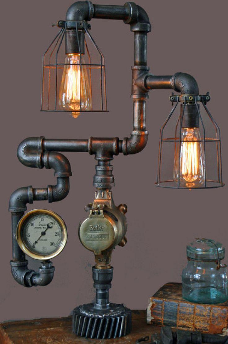 lampe steampunk | Steampunk objets | Pinterest | Steampunk
