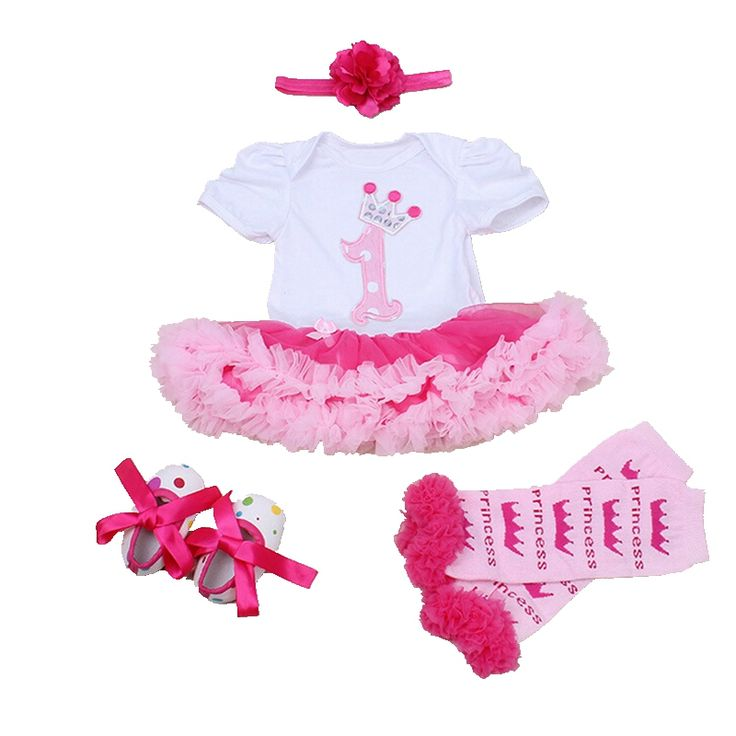 >> Click to Buy << Summer 2016 Newborn Baby Girl Clothes 1st Birthday Outfit Lace Romper Dress Headband Leg Warmers Crib Shoes Infant Clothing Sets #Affiliate
