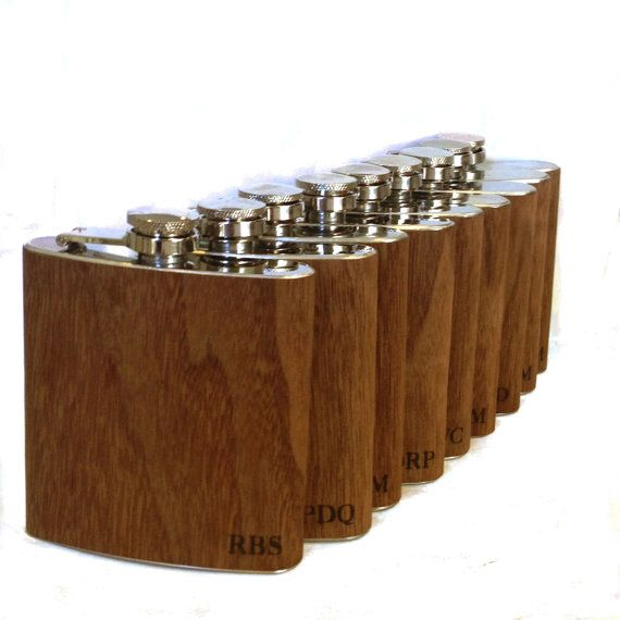 10 Peronsonalized flask / monogramed wood Flasks by Wickensnuffers