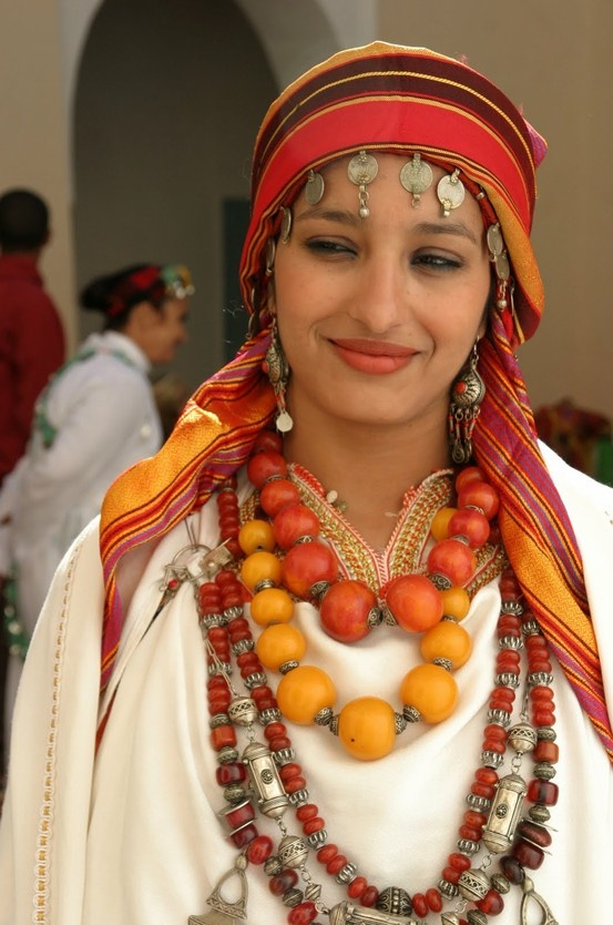 This a photo of a Moroccan Bride. It's a beautiful look while still wearing the…