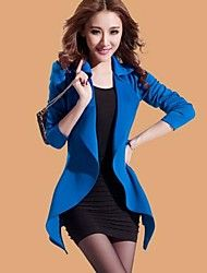 Women's Fashion Pure Color Slim Suit(Blazer & Dress)