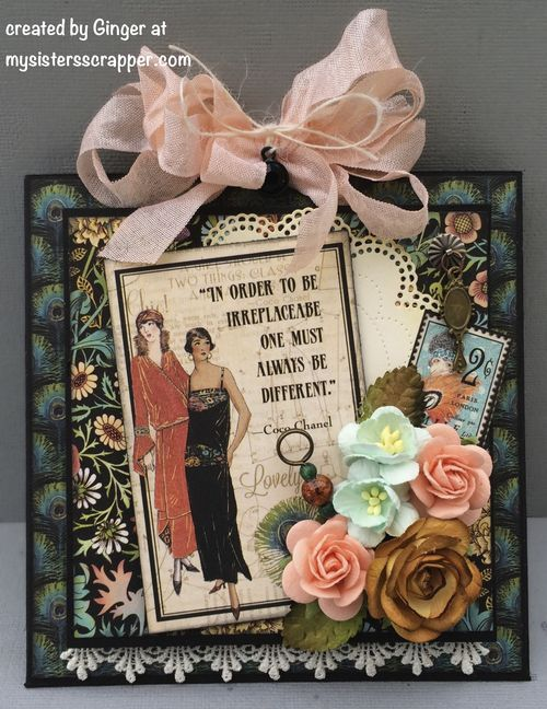 This card opens in a super creative way, click to see more! By Ginger Ropp using Couture #graphic45 #cards