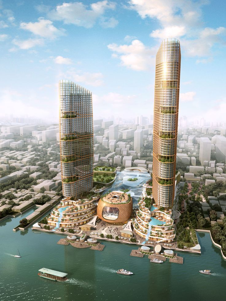 Thailand Mixuse Development CGI Arkilist Architecture
