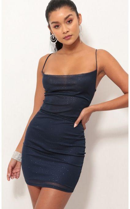 940da00da5 Party dresses   Lace Back Bodycon Dress In Sparkling Blue Sapphire ...