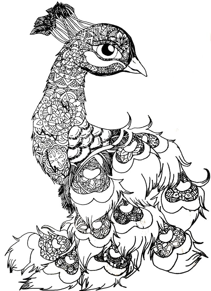 design coloring pages of animals - photo#41