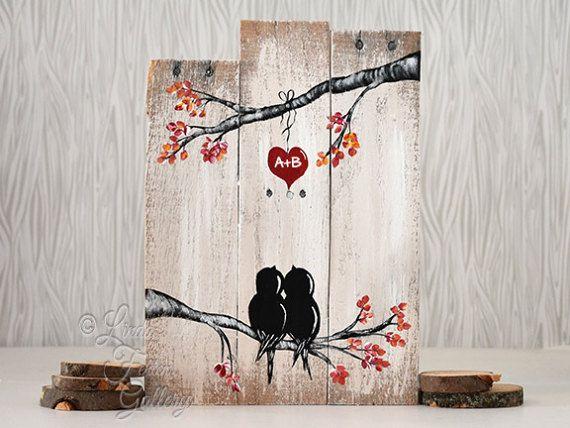 Valentines+Gift+houten+borden+van+LindaFehlenGallery+op+Etsy