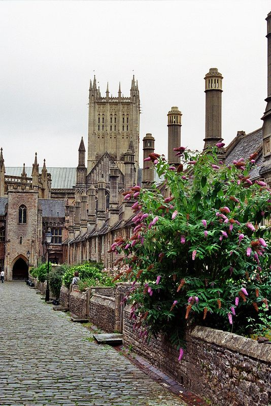 Vicars' Close, the oldest continually occupied street in Europe - Wells, Somerset, England built in the mid 14th century. You can rent some of the houses as holiday lets.