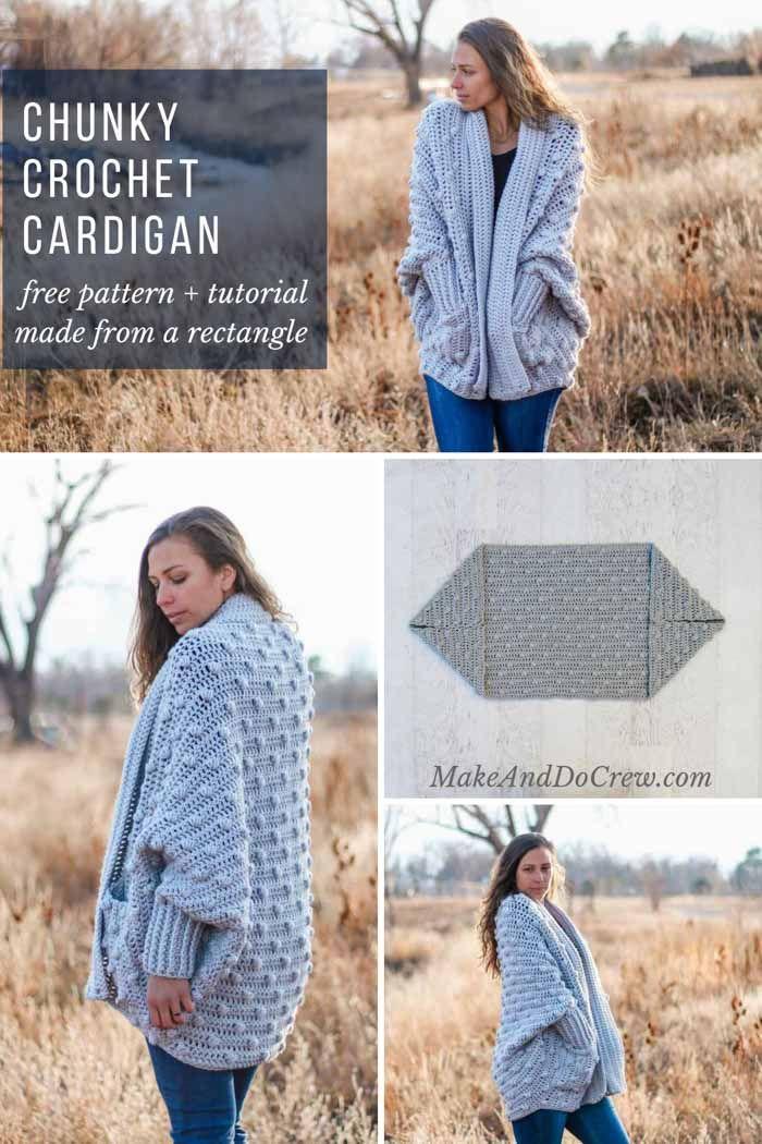 Free Crochet Sweater Pattern Haven Bobble Cardigan Video