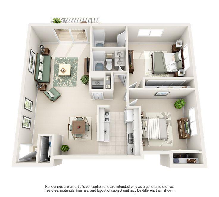 1 & 2 BR Apartment Layouts | Renaissance at Carol Stream
