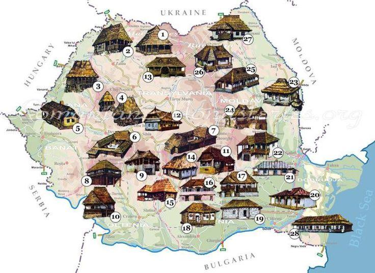 map Romania traditional  romanian regions house regions romanians