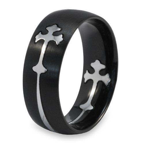 beautiful gothic cross ring i want this - Kmart Wedding Ring Sets