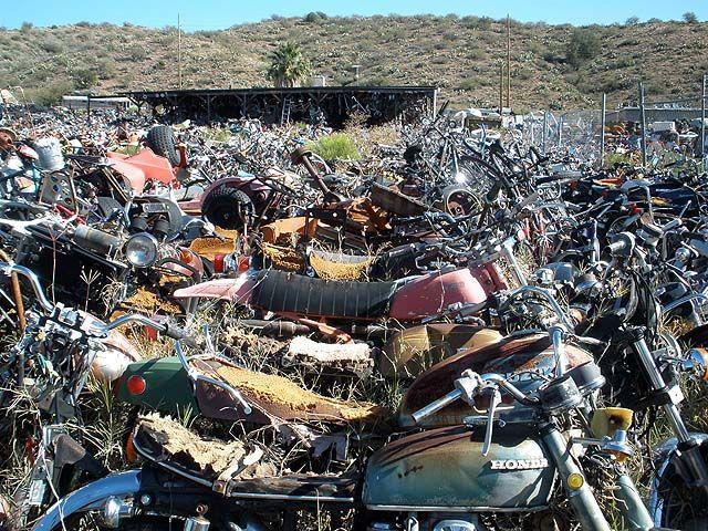 Harley Davidson Yard Art