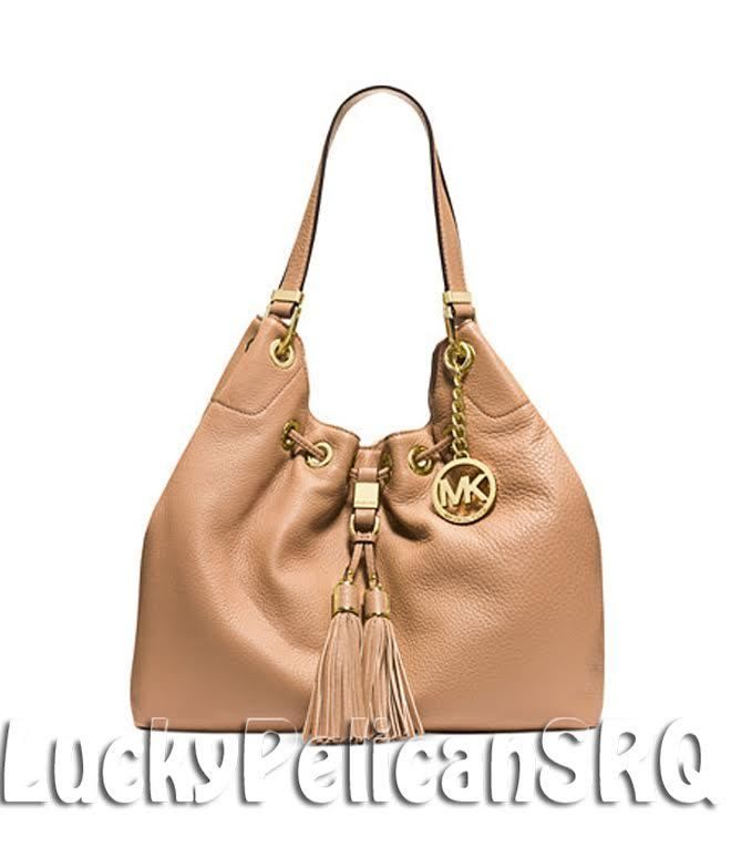 d1bfe0ef05d9 ... Michael Kors Camden Large Drawstring Shoulder Tote Bag Suntan Beige NWT MichaelKors  ShoulderBag ...