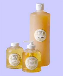 Lavender Liquid Soap By Warratina Lavender Farm. For super sensitive skins. Lightly fragranced. Can be used as a pet shampoo. Available in 125ml# 250ml pump & refill bottle & 1 litre.