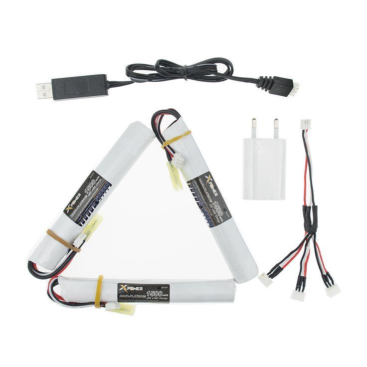 EU plug USB split cable charger 3pcs 7.4V 1500MAH 25C XPower RC Lipo battery AKKU Mini Airsoft Gun Battery RC model Wholesale //Price: $US $31.91 & FREE Shipping //     #rchelicopters