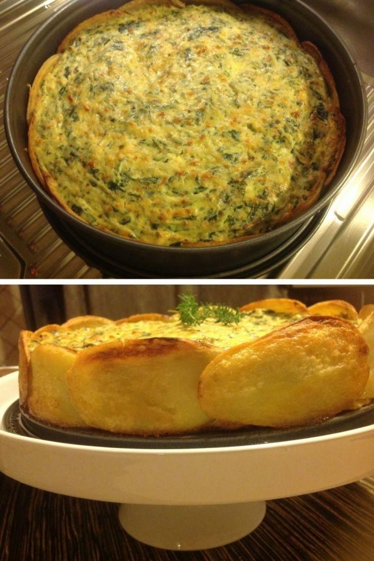 Tarta de espinaca con base de patatas - Notas - La Bioguía