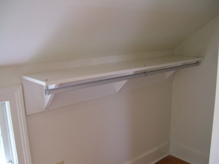 Professional Organizing Closet With Sloped Ceiling