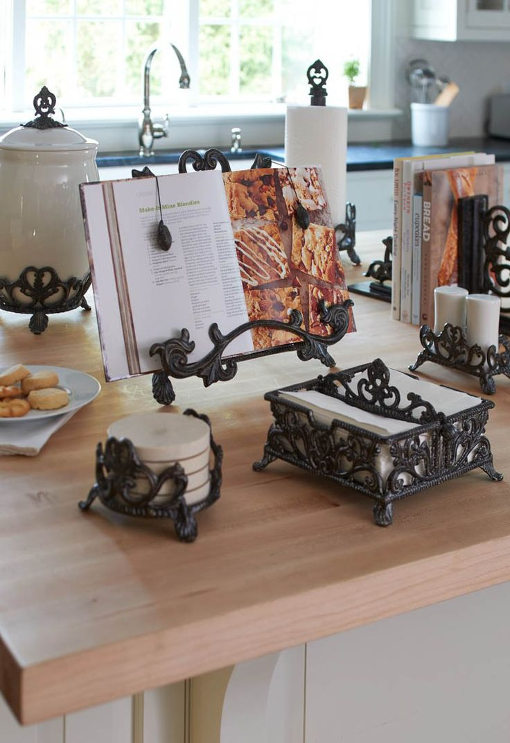 Substantially constructed of aluminum. Elaborately cast and handpainted with glints of gold, these pieces from Frontgate's Kitchen Classics Collection feel like they've been part of your home for decades.