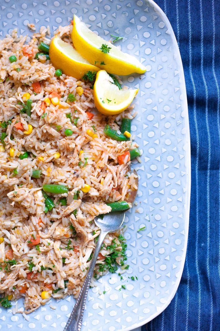 Spicy Rice and Chicken Strips - Easy and delish recipe for leftover chicken