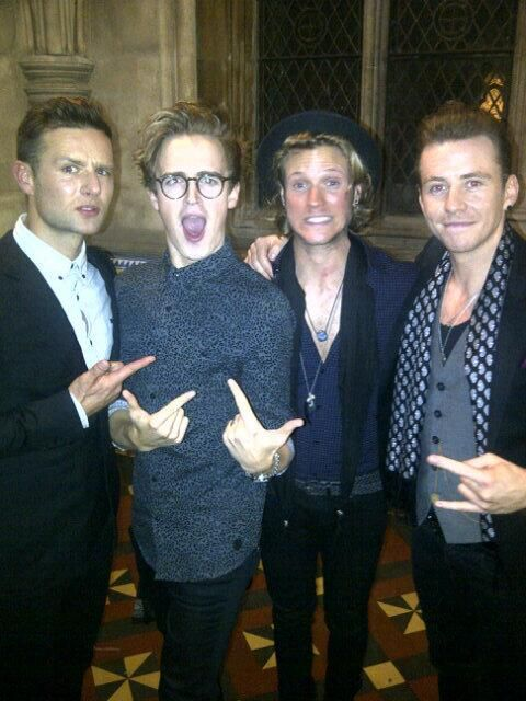 Mcfly boys, presenting at the Attitude awards