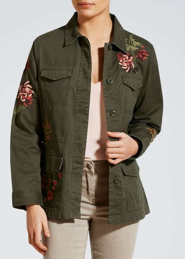 Embroidered Utility Jacket View 1