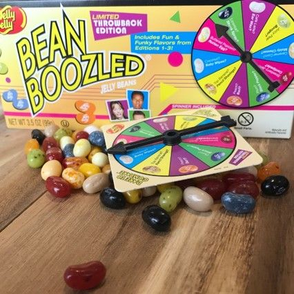 Challenge your friends to the Limited Throwback Edition and see if they get yummy Strawberry Jam, Centipede, Top Banana, Pencil Shavings, or Skunk Spray! #beanboozled #jellybelly #candy #prank #games