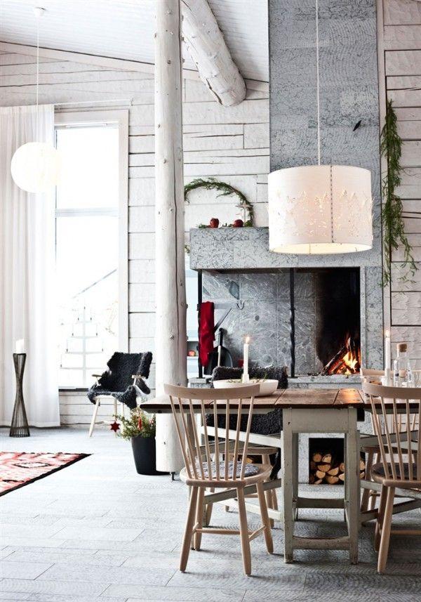 ▲▲▲ #Decoración de invierno para hogares de altura ▲▲▲ Si vives rodeado de nieve o sueñas con disfrutar de un refugio de #montaña. Decoración en chalets de montaña (Suecia) #IconsCorner