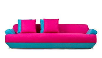 MORPHEUS sofa || Clear volume enclosed by unifying line establishes unconventional shape and, followed by playful contrast of bright colors, exotic uniqueness of Morpheus brings an excitement to any environment. Making your space for life and dream at once.  // Creativity is more than just being different. Anybody can plan weird; that's easy. What's hard is to be as simple as Bach. Making the simple, awesomely simple, that's creativity.   - Charles Mingus
