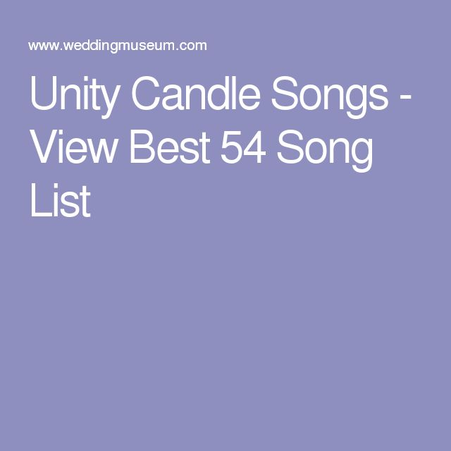 Alternative Wedding Songs: Best 25+ Unity Candle Songs Ideas On Pinterest