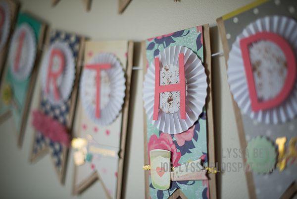 Craftwell Design Team: Birthday banner #maggieholmes #craftwell #bunting #happybirthday #diy #craftwell