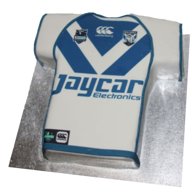 Canterbury Bulldogs Jersey Cake   Like us on Facebook @ www.facebook.com/Meli.Ann.Designs