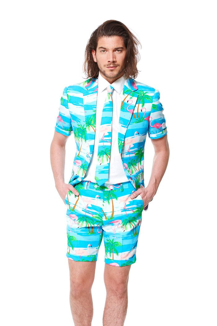 Flamingo Summer Party Suit | Get all your summer gear and all manner of outrageous threads at Shinesty.com