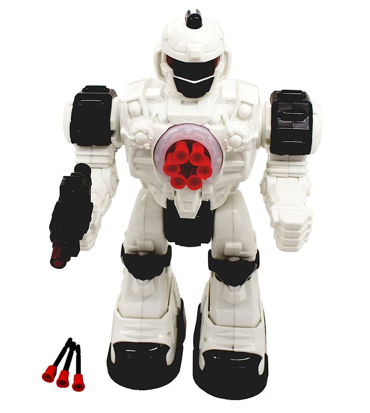 Amazon.com: TECHEGE Toys Steel Wolf Remote Controlled Robot, Shoots Rubber Missiles Awesome Sounds, Fun Lights Kids RC Robot Battery Powered Walking Futuristic Soldier: Toys & Games