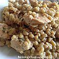 Recette n°57: Eblysotto au poulet, ricotta et persil.