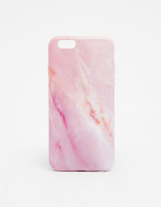 Marble pattern phone case - Mobile Phone Cover - Accessories - Woman - PULL&BEAR United Kingdom