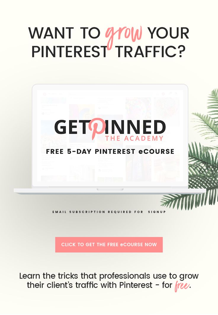 Want to grow your Pinterest traffic and Get Pinned? Check out this 5-day free Pinterest course full of my best Pinterest tips for getting traffic. Boost your Pinterest growth with my actionable tips - all for free!